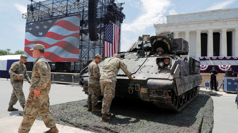 Photo of الصراع مع إيران أجبر الولايات المتحدة على إخراج الدبابات إلى الشارع