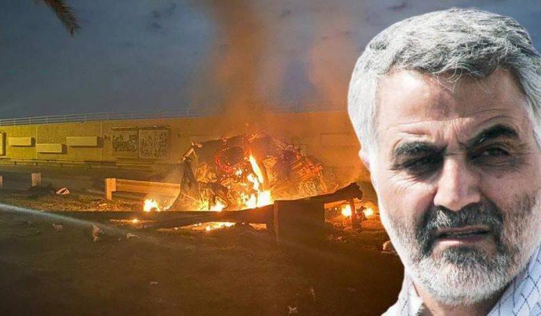 Photo of ميليشيات الحشد الشعبي تقيم نصبا لسليماني في موقع اغتياله