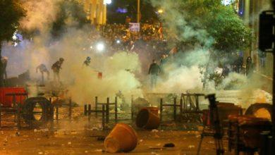Photo of اعتراضات شبانه در بیروت برای آزادی بازداشت شدگان