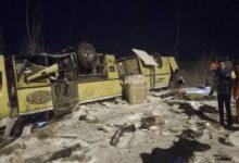 Photo of واژگونی اتوبوس در زنجان سه کشته برجای گذاشت