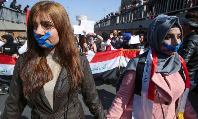 Photo of گزارش تصویری از تظاهرات امروز زنان در عراق