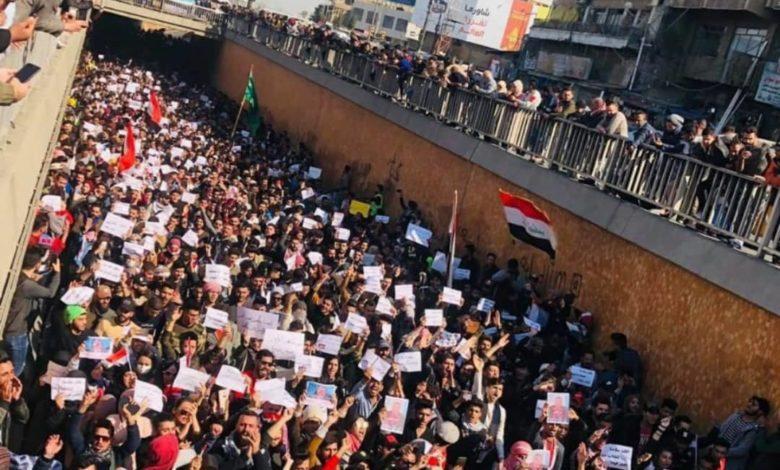 Photo of تظاهرات گسترده در برخی از شهرهای عراق در اعتراض به حوادث خونین شب گذشته در نجف