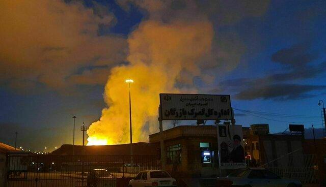 Photo of انفجار شدید خط لوله گاز صادراتی ایران به ترکیه در نزدیکی مرز بازرگان