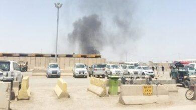 Photo of پایگاه التاجی عراق که محل استقرار نیروهای آمریکایی است مورد اصابت کاتیوشا قرار گرفت
