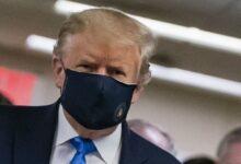 Photo of Tramp ilk dəfə maskadan istifadə edib