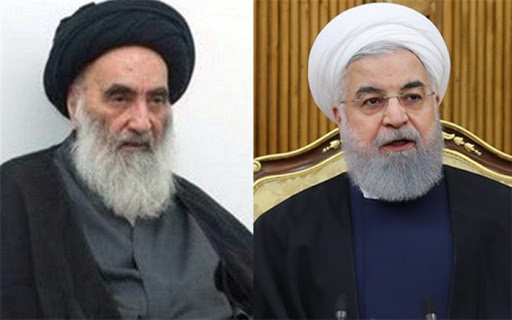 Photo of روحاني وقائد فيلق القدس يشيدان بالسيستاني