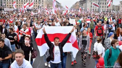 Photo of Minskdəki etiraz aksiyalarında 400 nəfər saxlanılıb
