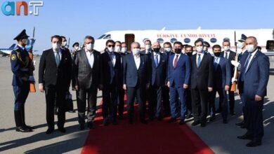 Photo of رئیس پارلمان ترکیه وارد باکو شد