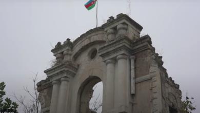 """Photo of """"سربازان آذربایجانی نتوانستند ساختمان سالمی برای برافراشتن پرچم خود در فضولی پیدا کنند"""" (ویدیو)"""
