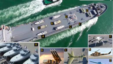 Photo of جدیدترین و قدرتمندترین کشتی جنگی سپاه یک کشتی تجاری تغییر رنگ داده شده است