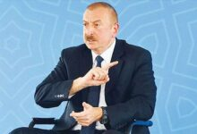 "Photo of علیاف خطاب به ارمنستان: ""پرچمتان را پایین بیاورید بگذارید جیبتان و ضمیمه کشور دیگری شوید"""